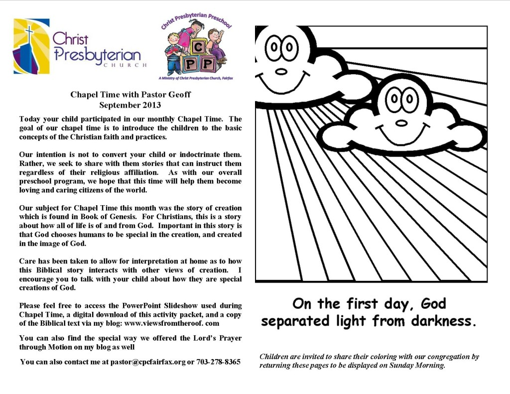 Sept Chapel Time Handout icon